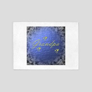 golden text grandpa 5'x7'Area Rug