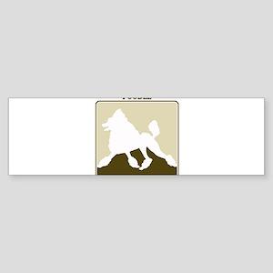 Professional Poodle Bumper Sticker