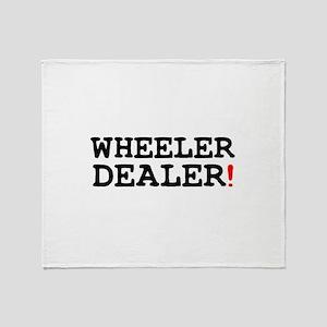 WHEELER DEALER! Throw Blanket