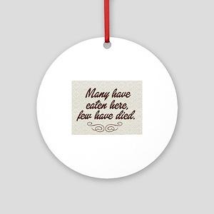 chef humor Round Ornament
