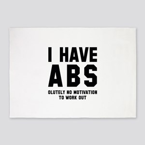 I Have Abs 5'x7'Area Rug