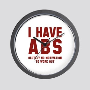 I Have Abs Wall Clock