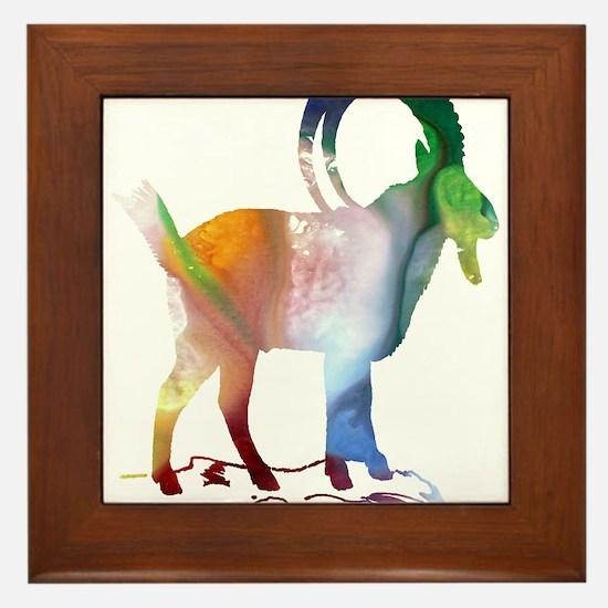 wild goat Framed Tile