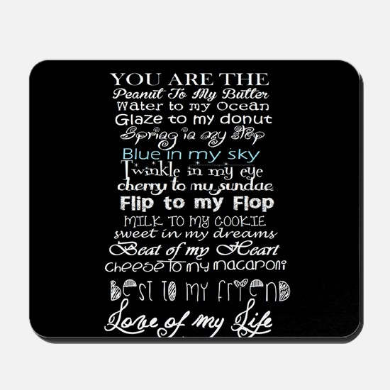 sweet love quote Mousepad