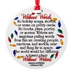 Holiday Medium Round Ornament
