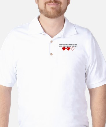 Video Game ruined My Life Golf Shirt