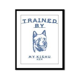 Kishu Ken Framed Panel Print
