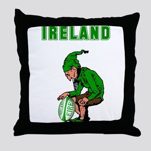 Irish Rugby Throw Pillow