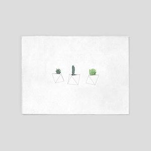 Succulents 5'x7'Area Rug