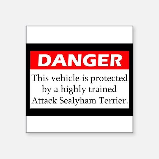 "Cute Sealyham terrier Square Sticker 3"" x 3"""