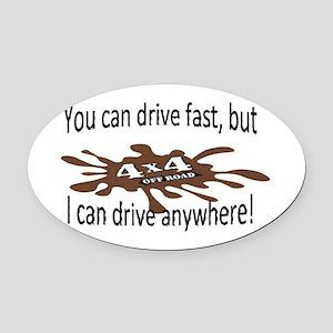 4x4 Oval Car Magnet
