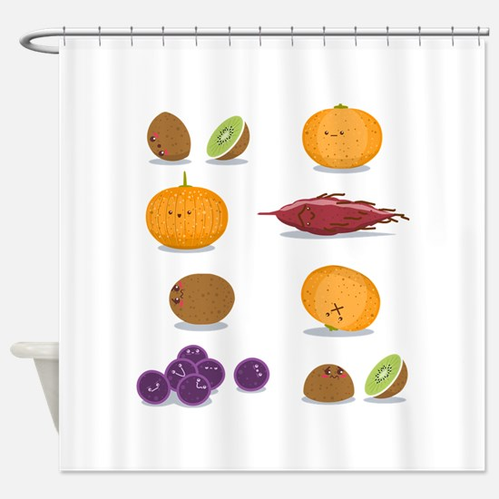Funny Fruits Fun Pack Shower Curtain