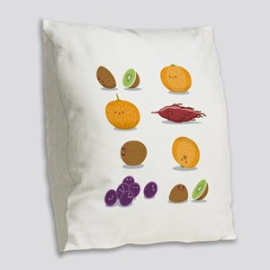Funny Fruits Fun Pack Burlap Throw Pillow