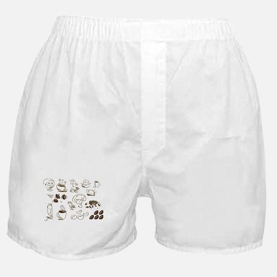 Coffee Coffee Coffee Boxer Shorts