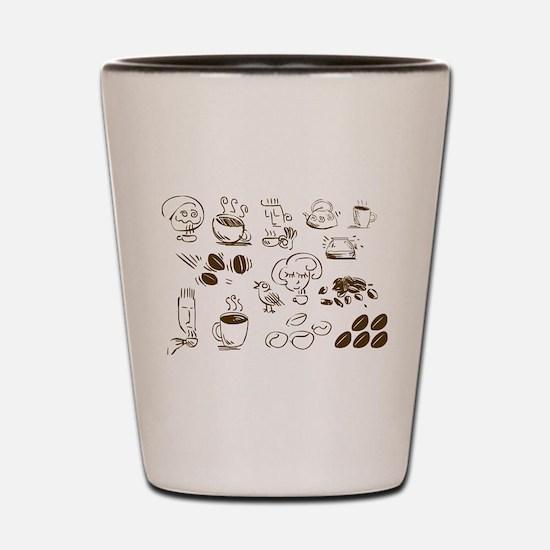 Coffee Coffee Coffee Shot Glass