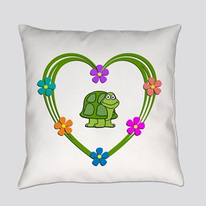 Turtle Heart Everyday Pillow