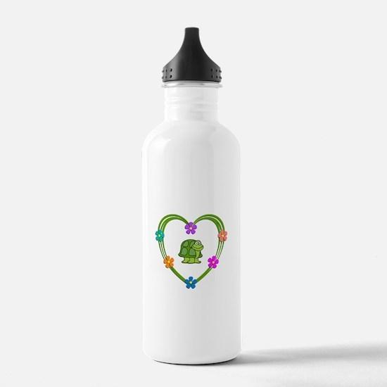 Turtle Heart Water Bottle