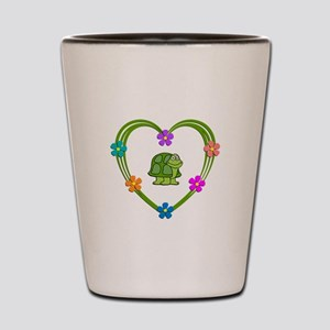 Turtle Heart Shot Glass