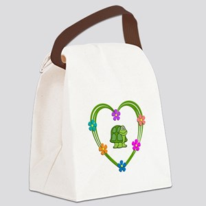 Turtle Heart Canvas Lunch Bag