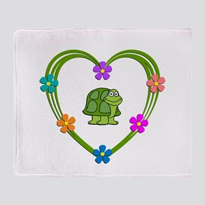 Turtle Heart Throw Blanket