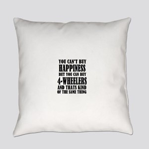 4 wheelers happiness Everyday Pillow