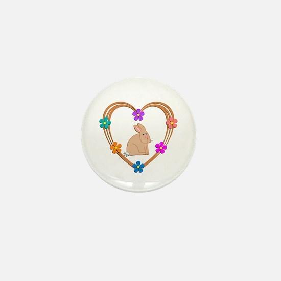 Rabbit Heart Mini Button