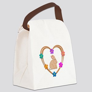 Rabbit Heart Canvas Lunch Bag