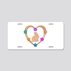 Rabbit Heart Aluminum License Plate