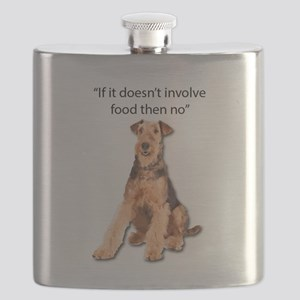Greedy Airedale in it for the Food Flask