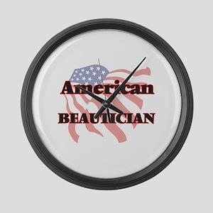 American Beautician Large Wall Clock