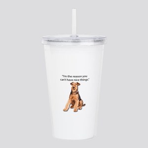 Airedales: Why you can Acrylic Double-wall Tumbler