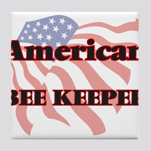 American Bee Keeper Tile Coaster