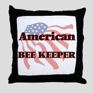 American Bee Keeper Throw Pillow