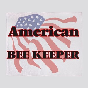 American Bee Keeper Throw Blanket