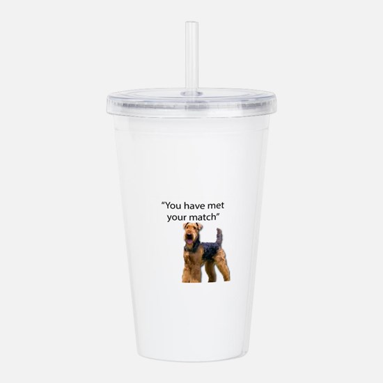 Airedale Terrier Says Acrylic Double-wall Tumbler