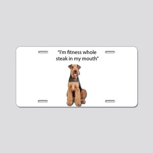 Airedale Terrier's exercise Aluminum License Plate