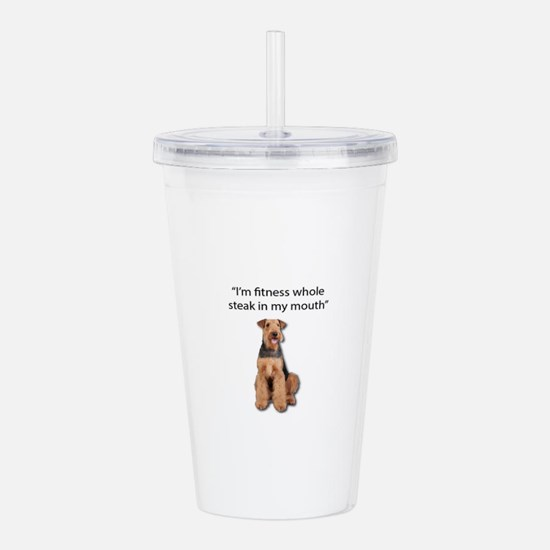 Airedale Terrier's exe Acrylic Double-wall Tumbler