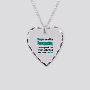 People are like Percussion Necklace Heart Charm