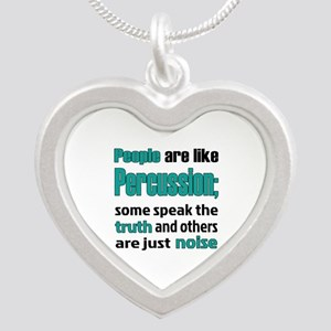 People are like Percussion Silver Heart Necklace