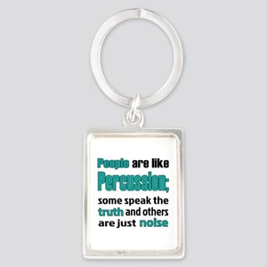 People are like Percussion Portrait Keychain