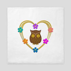 Owl Heart Queen Duvet
