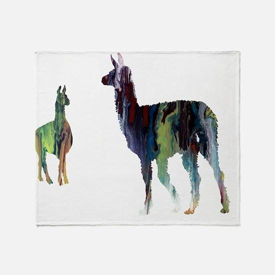 Cool Camel art Throw Blanket