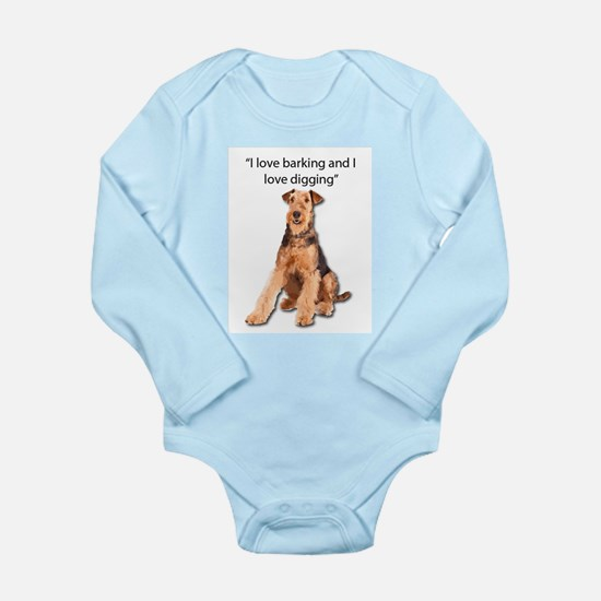 Airedales love barking and digging Body Suit