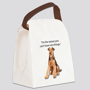 Airedales: Why you can't have nic Canvas Lunch Bag