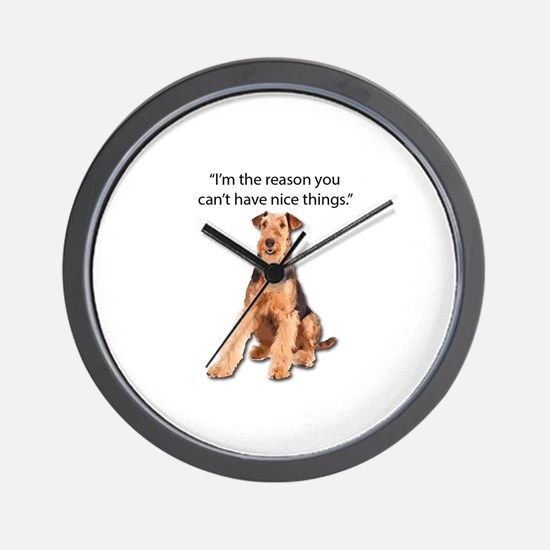 Airedales: Why you can't have nice thin Wall Clock