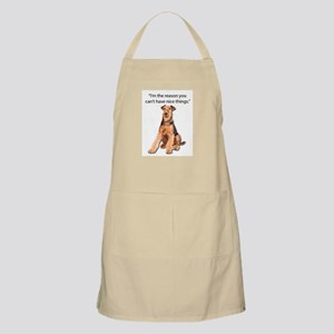 Airedales: Why you can't have nice things Apron