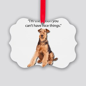 Airedales: Why you can't have nic Picture Ornament