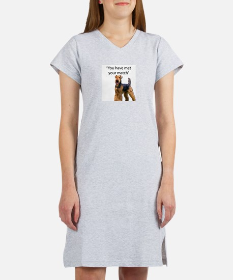 Airedale Terrier Says You've Me Women's Nightshirt