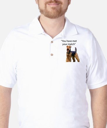 Airedale Terrier Says You've Met Your M Golf Shirt