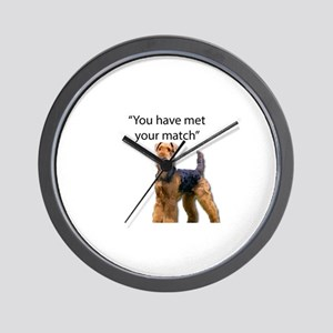 Airedale Terrier Says You've Met Your M Wall Clock